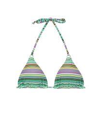 Green striped sliding triangle bikini top - SOUTIEN IEMANJA CHEEKY