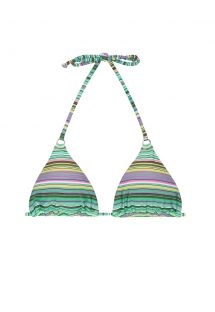Green striped sliding triangle bikini top - SOUTIEN IEMANJA CHEEKY