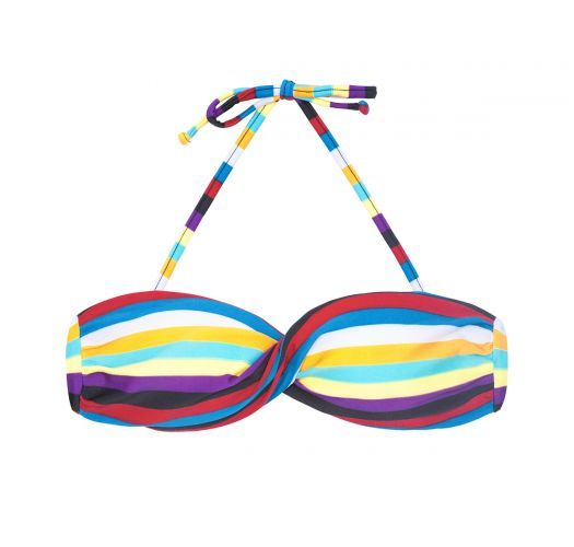 Twisted striped bandeau bikini top - SOUTIEN INHAMBUS