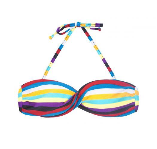 Twisted striped bandeau bikini top - SOUTIEN INHAMBUS