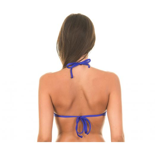 Sutiã faixa azul acetinado com copas rígidas - SOUTIEN LACE BLUE