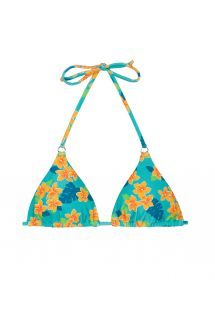 Floral sliding triangle bikini top - SOUTIEN LEI CHEEKY
