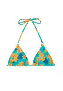 Blommig, justerbar triangel bikinii - SOUTIEN LEI CHEEKY
