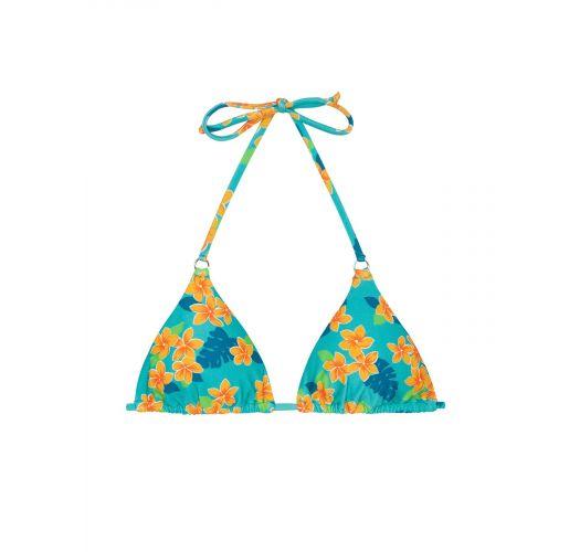 Trójkątna góra od bikini przesuwana w kwiaty - SOUTIEN LEI CHEEKY
