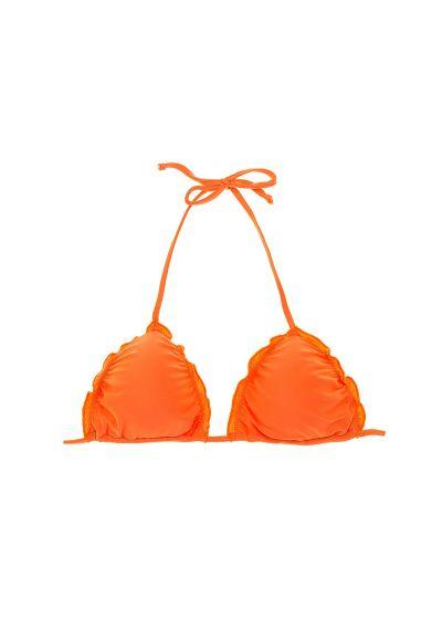 Padded orange triangle top with wavy edges - SOUTIEN LULI ORANGE