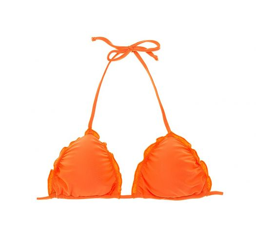 Padded orange triangle top with wavy edges - SOUTIEN LULI ORANGE