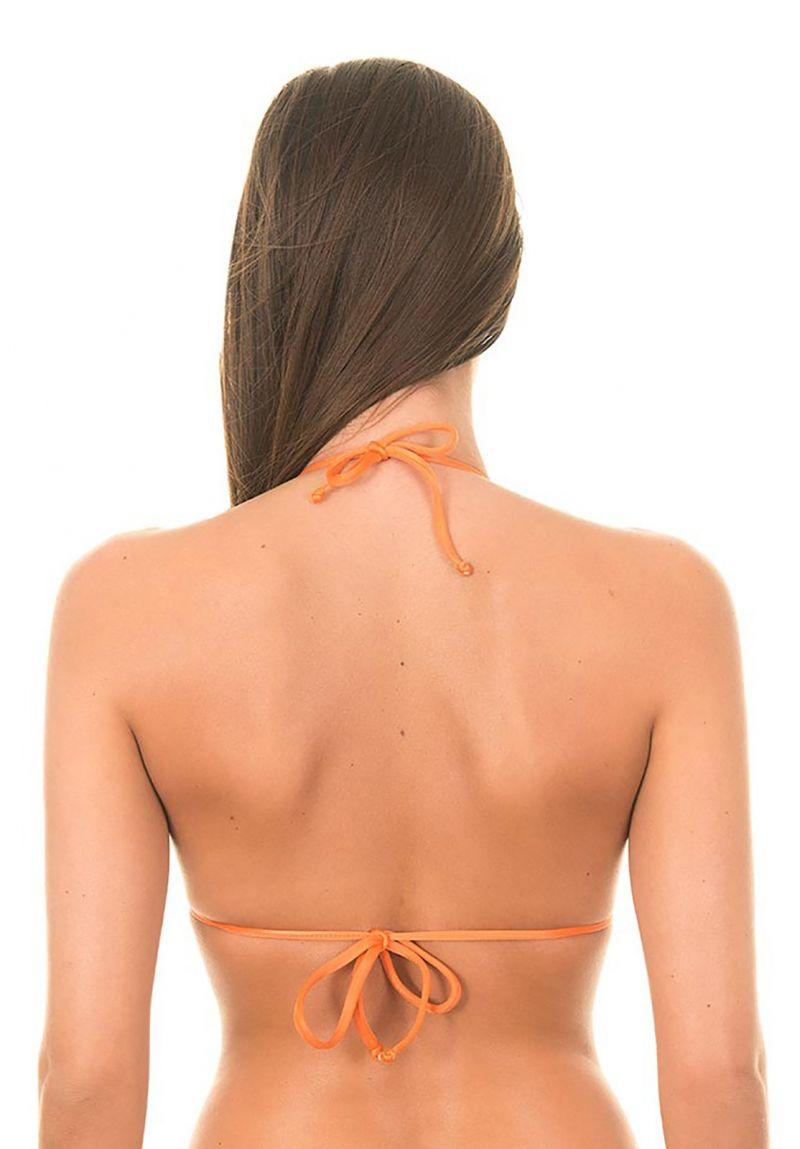 Orange, vadderad trekants- övredel med vågiga kanter - SOUTIEN LULI ORANGE