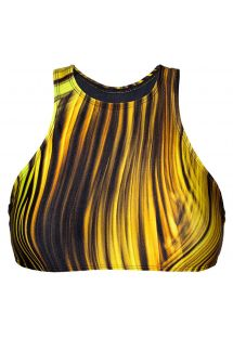 Yellow graphic print racerback crop top - SOUTIEN LUXOR NADADOR