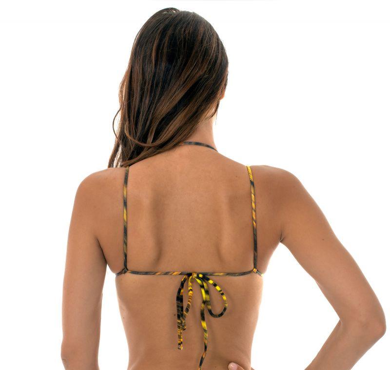 Yellow triangle bikini top with strap neck - SOUTIEN LUXOR TRI DUO