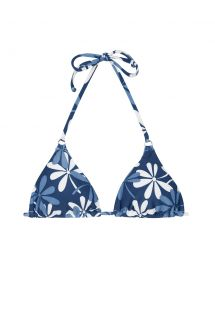 Blue/white floral triangle top - SOUTIEN MARESIA CHEEKY