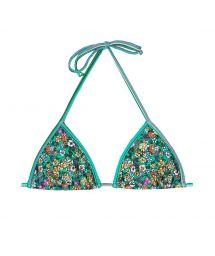 Floral green triangle bikini top - SOUTIEN MARGARIDAS