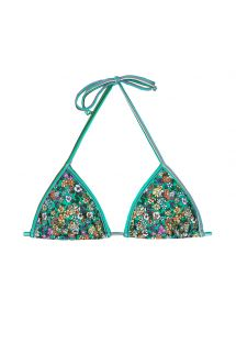 Floral green triangle bikini top - SOUTIEN MARGARIDAS
