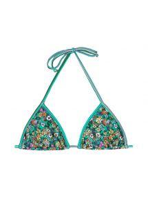 Треугольный верх бикини с принтом в зеленых цветочных тонах - SOUTIEN MARGARIDAS