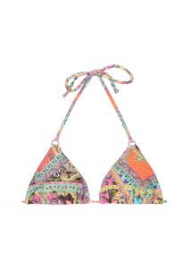 Parte superior de bikini con forma triangular, estampado tipo fular yanillas - SOUTIEN MUNDOMIX CHEEKY