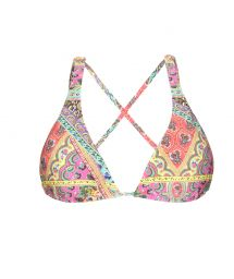 Printed pattern triangle top, crossover back - SOUTIEN MUNDOMIX COOL
