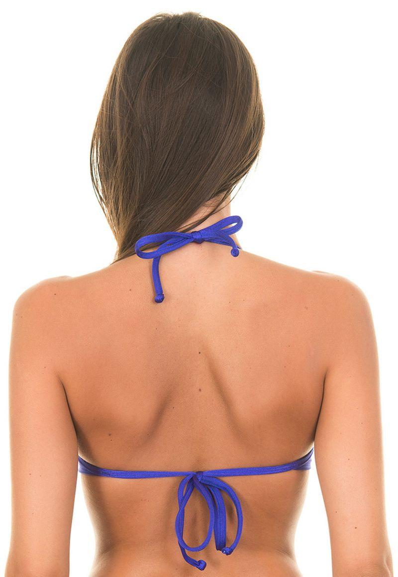 Dark blue satin fabric bikini top - SOUTIEN ONIX BLUE