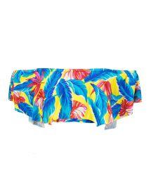Top bandeau à volants tropical multicolore - SOUTIEN PARADISE YELLOW