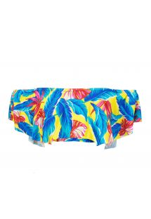 Top bandeau con volante tropical multicolor - SOUTIEN PARADISE YELLOW