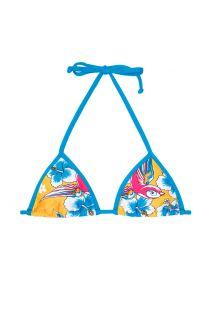 Parte superior de bikini con forma triangular y estampado lúdico - SOUTIEN PASSARO AZUL
