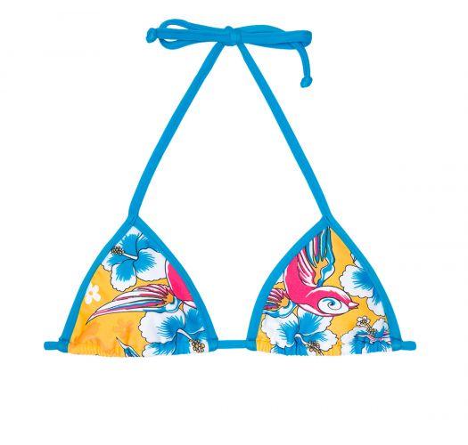 Треугольный верх бикинис веселым разноцветным принтом - SOUTIEN PASSARO AZUL