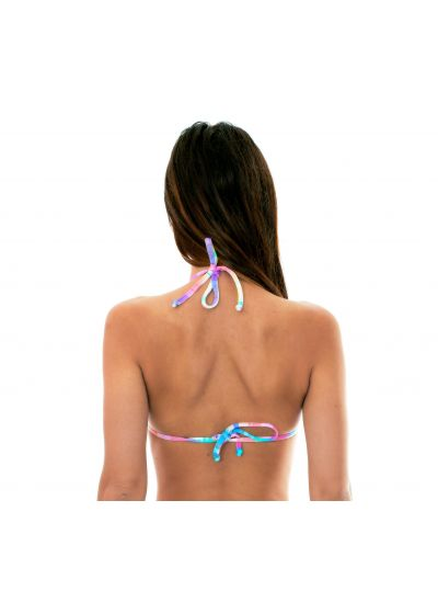 Pastel check-printtriangle bikini top - SOUTIEN PLAID MICRO