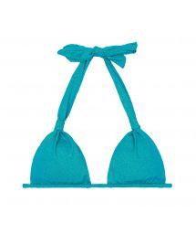 Triangle scarf top in shiny blue lurex - SOUTIEN RADIANTE AZUL CORTINÃO