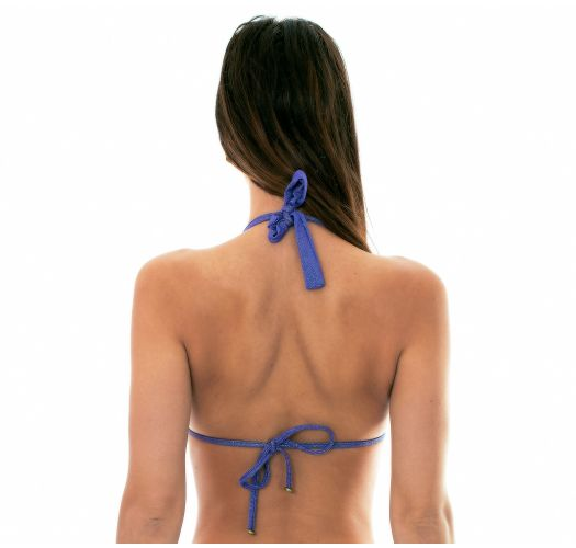 Skinnende mørkeblå bikinitopp med flere posisjoner (5 i 1) - SOUTIEN RADIANTE AZUL MARINHO MULTI
