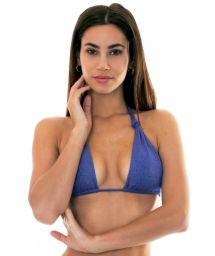 Shimmering dark blue multi-position bikini top (5 in 1) - SOUTIEN RADIANTE AZUL MARINHO MULTI