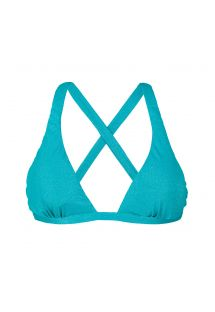 Top triangulo alto fijo lurex azul - SOUTIEN RADIANTE AZUL SPORTY MINI