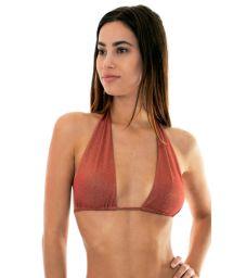 Shimmering multiposition bikini top (5 in 1) - cinnamon - SOUTIEN RADIANTE CANELA MULTI