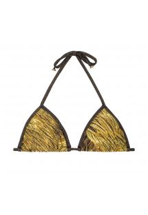 Gold print triangle top with lurex ties - SOUTIEN RELUZENTE LACINHO