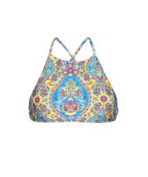 Cropped bikini top in vintage-style print - SOUTIEN SARI CROPPED