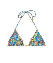 Triangle bikini top vintage floral - SOUTIEN SARI TRI FIO