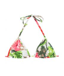 Pink and green floral triangle top - SOUTIEN SOSSEGO MICRO
