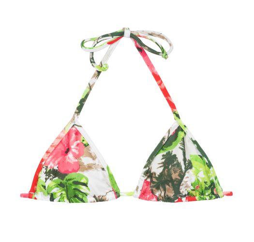 Pink og grøn trekant bikini-top med blomstermønster - SOUTIEN SOSSEGO MICRO