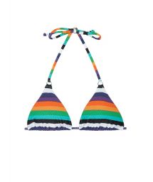 Multicolour striped triangle bikini top - SOUTIEN TEPEGO CHEEKY