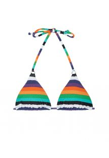 Multicolour striped triangle bikini top - SOUTIEN TEPEGO CHEEKY