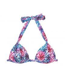 Two-tone tie-dye triangle bikini top - SOUTIEN TIEJEAN BASIC