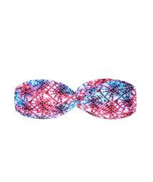 Pink/blue tie dye bandeau bikini top - SOUTIEN TIEJEAN RIPPLE