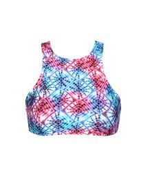Tie dye swimmer back crop bikini top - SOUTIEN TIEJEAN SPORTY