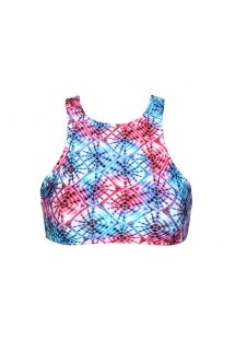 Tie dye swimmer back crop bikini top - SOUTIEN TIEJEAN SPORTY
