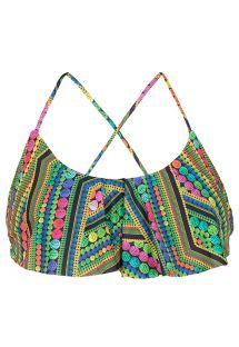Geometric print cropped bikini top - SOUTIEN TRICOTART BABADO