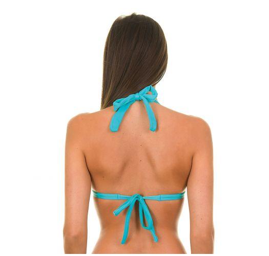 Blue triangle bikini top with cups - TAHITI TRI FIXO