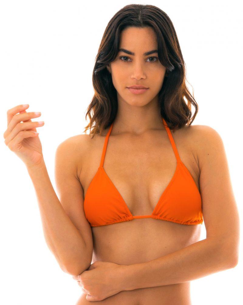 Orange triangle bikini top - TOP  LACINHO KING