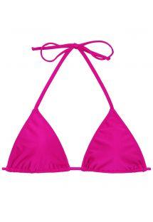 Ροζ φούξια τριγωνικό μπικίνι πάνω μέρος - TOP AMARANTO LACINHO