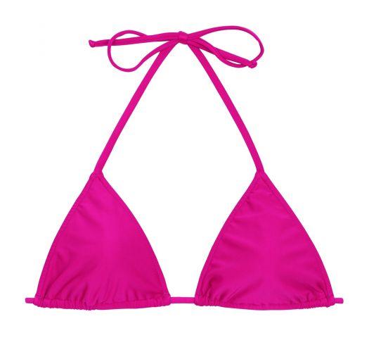 Pink fuchsia triangle bikini top - TOP AMARANTO LACINHO