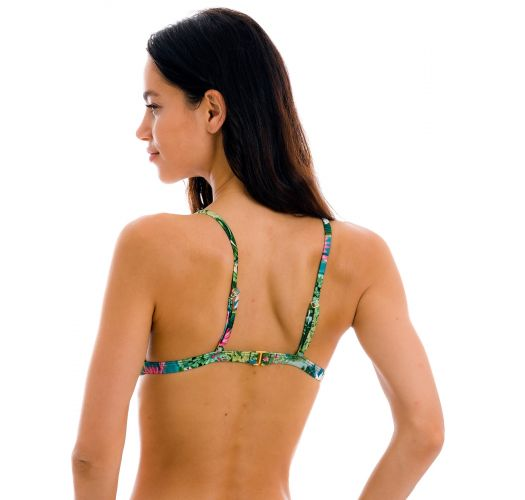 Green blue tropical triangle bikini top - TOP AMAZONIA TRI-FIXO