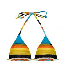 Sliding triangle top with colorful stripes - TOP ARTSY TRI-INV