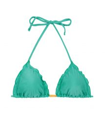 Green triangle bikini top wavy edges - TOP BAHAMAS FRUFRU