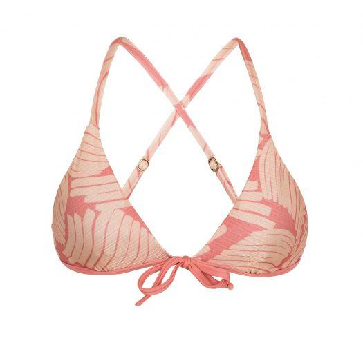 Pale pink rose bra top crossed back - TOP BANANA ROSE MICRO